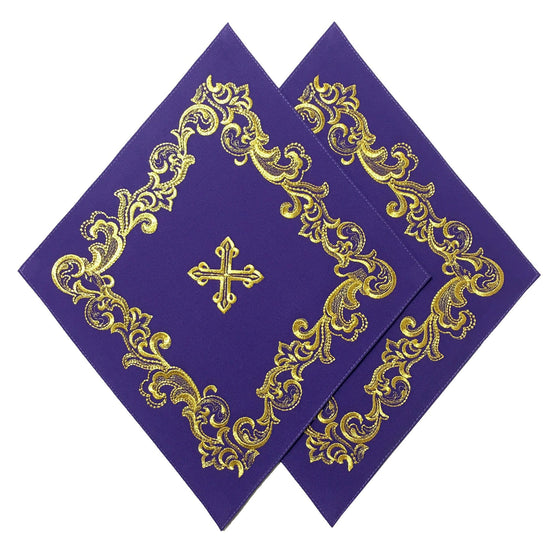 Blessing Cross Diamond Set: Violet & Gold