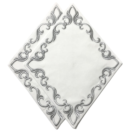 Blessing Cross Diamond Set: White Velvet & Silver