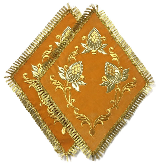 Blessing Cross Diamond Set: Gold Velvet & Gold