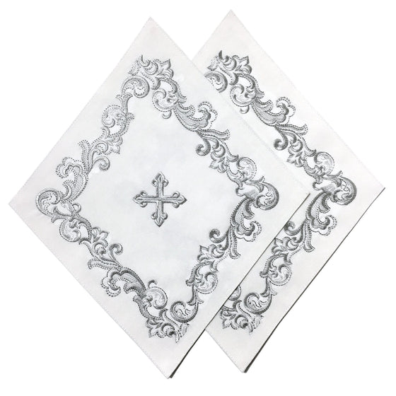 Blessing Cross Diamond Set: White & Silver