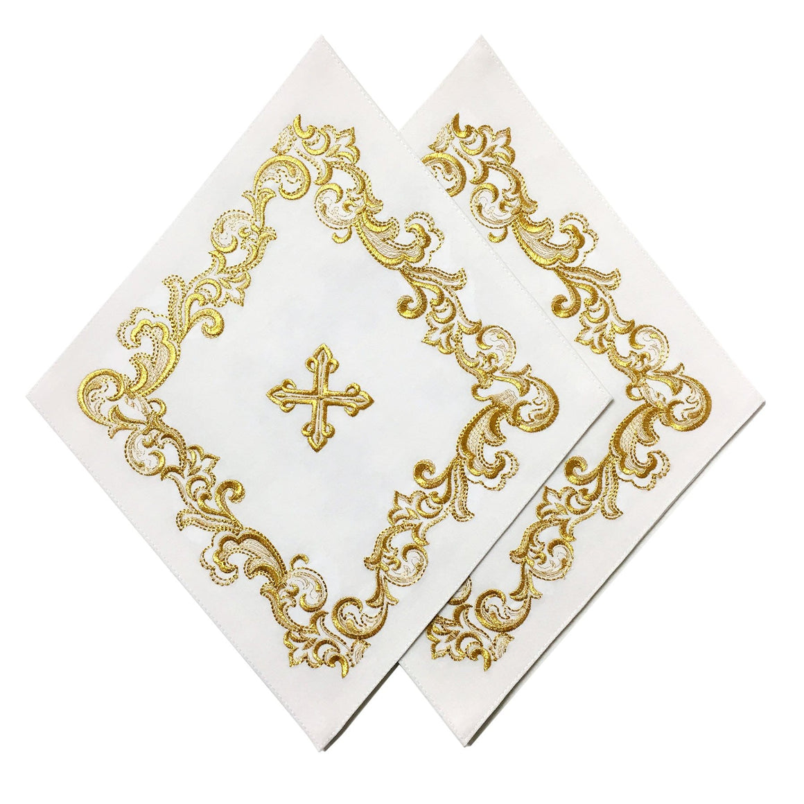 Blessing Cross Diamond Set: White & Gold