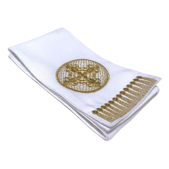 Gospel Marker: White with Gold Embroidery