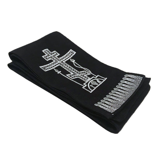 Gospel Marker: Black with Silver Embroidery