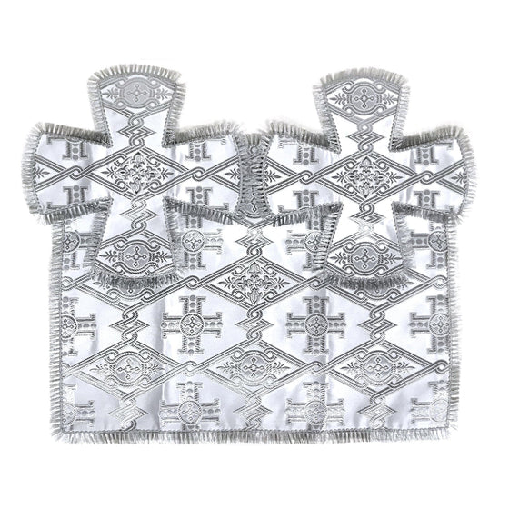 Chalice Cover & Aer Set: White & Silver (0.5 liter)