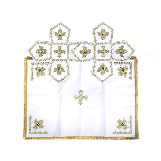 Chalice Cover & Aer Set: Embroidered White (0.5 liter)