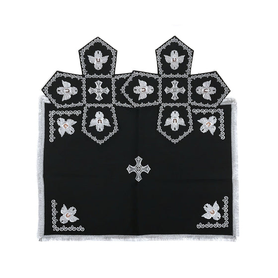 Chalice Cover & Aer Set: Embroidered Black (0.5 liter)