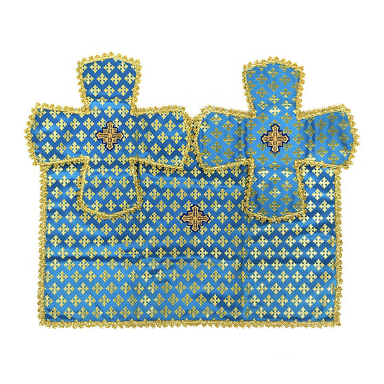 Chalice Cover & Aer Set: Blue & Gold (0.5 liter)