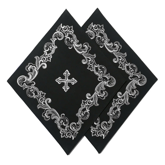 Blessing Cross Diamond Set: Black & Silver