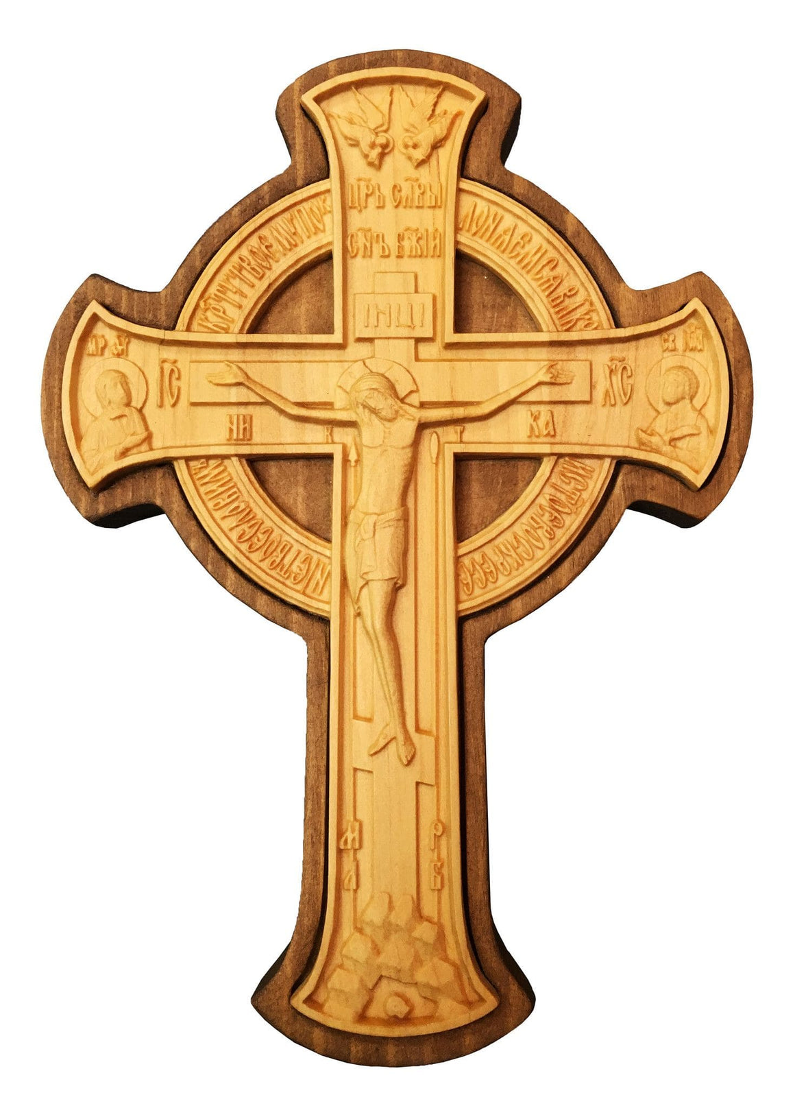 Hand Carved Wall Crucifix