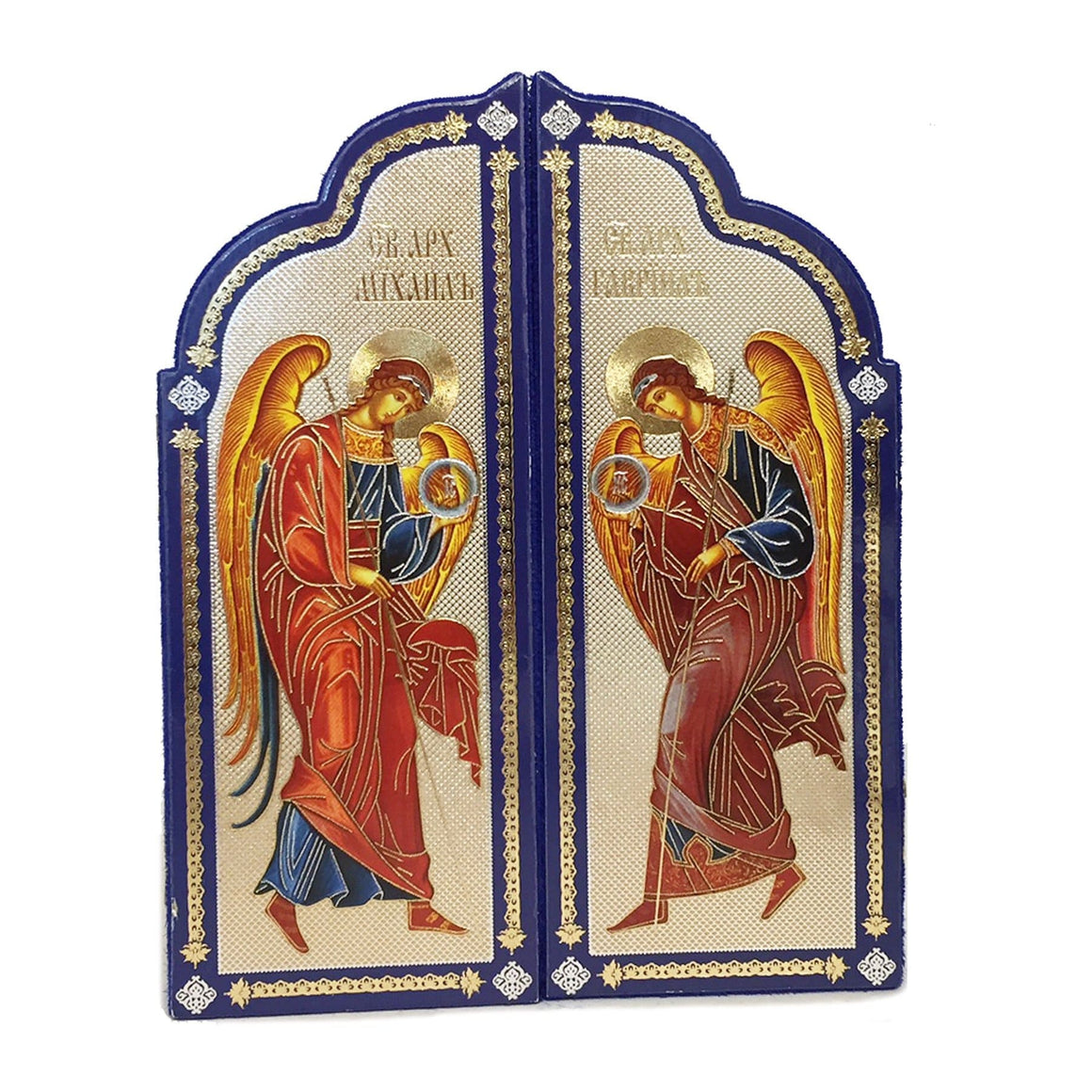 Triptych Christ The Teacher With Archangel Michael and Gabriel
