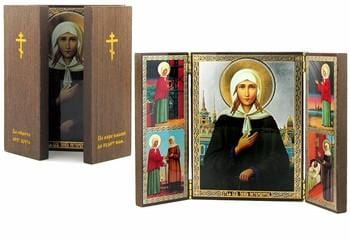 Triptych of St. Ksenia of St. Petersburg Icon (Xenia)