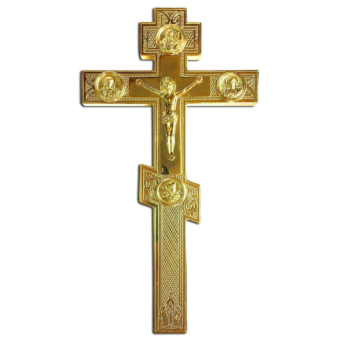 Blessing Cross: Gold-plated, Engraved (Large)