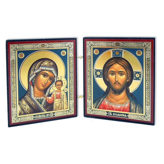 "Mother of God ""of Kazan"" & Christ Almighty Diptych"