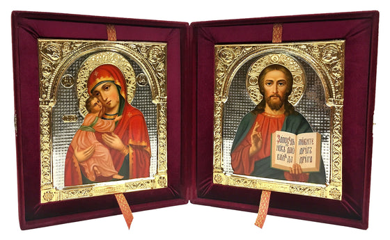 Hand-painted Wedding Icon Set with Riza