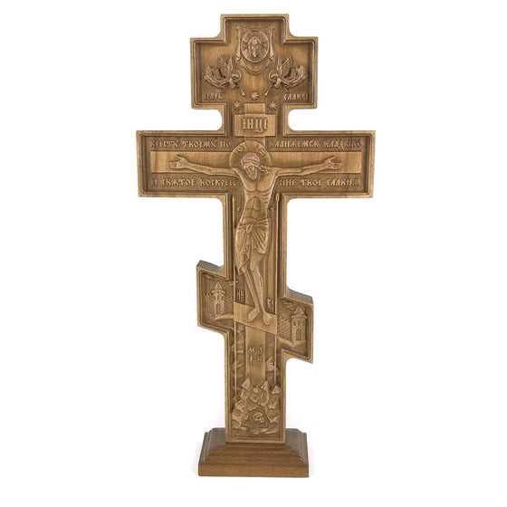 Carved Standing Crucifix