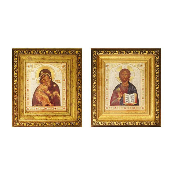Framed Pair of Wedding Icons: Small