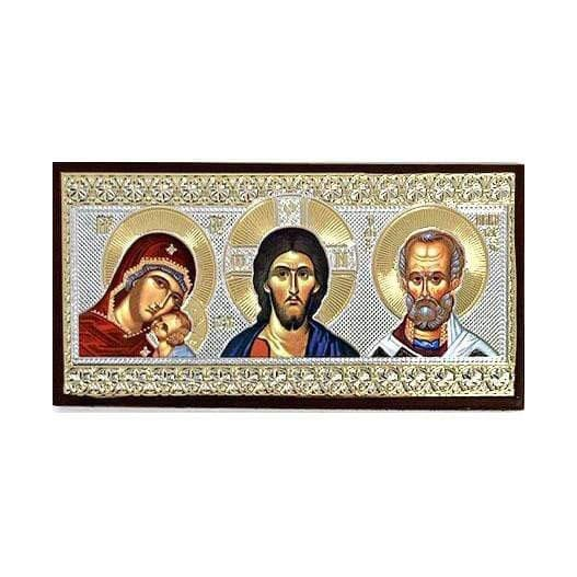Car Icon: Christ, Mother of God, & St. Nicholas