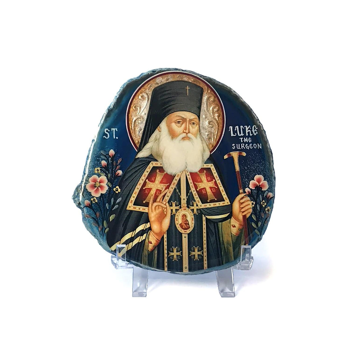 Agate Stone Icon: St. Luke the Blessed Surgeon