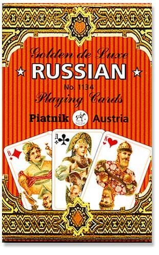 Golden de Luxe Russian Playing Cards