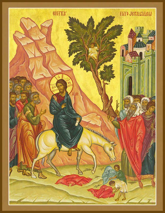 The Entry into Jerusalem (Palm Sunday) Icon