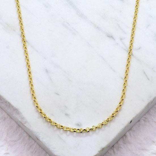 Rolo Chain (30in, Gold Filled)