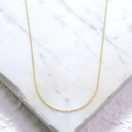 Gold Cable Chain (18in, 14 kt.)