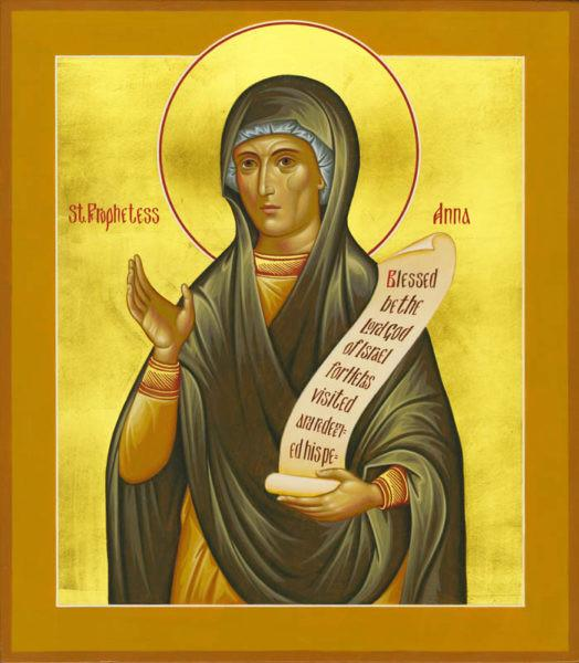 St. Anna the Holy Prophetess Icon