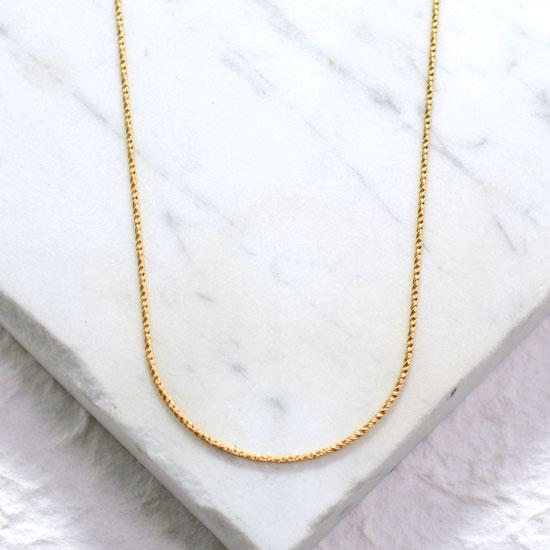 Standard Rope Chain (18in, Gold-filled)