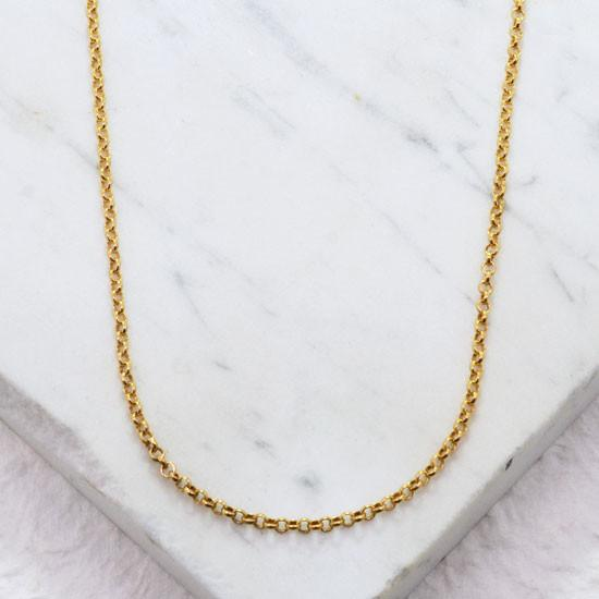 Rolo Chain (18in, Gold Filled)