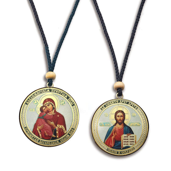 Hanging Icon: Vladimir Mother of God & Christ the Savior