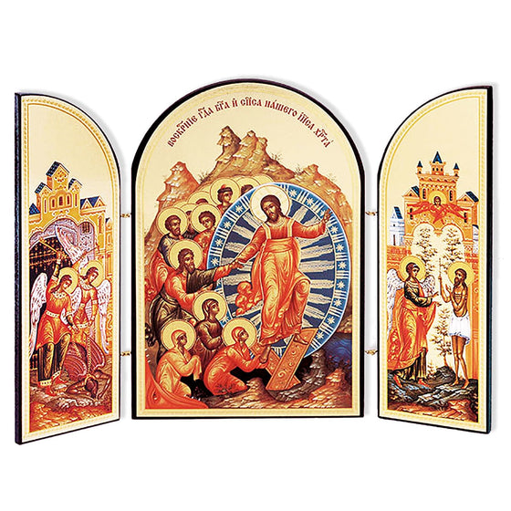 Triptych Resurrection of Christ Icon