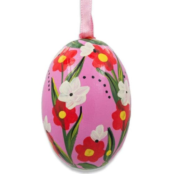 Floral Egg Wooden Ornament: Morning Garden
