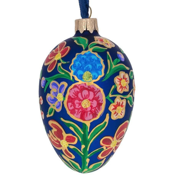 Fabergé Inspired Glass Egg: Zinnia