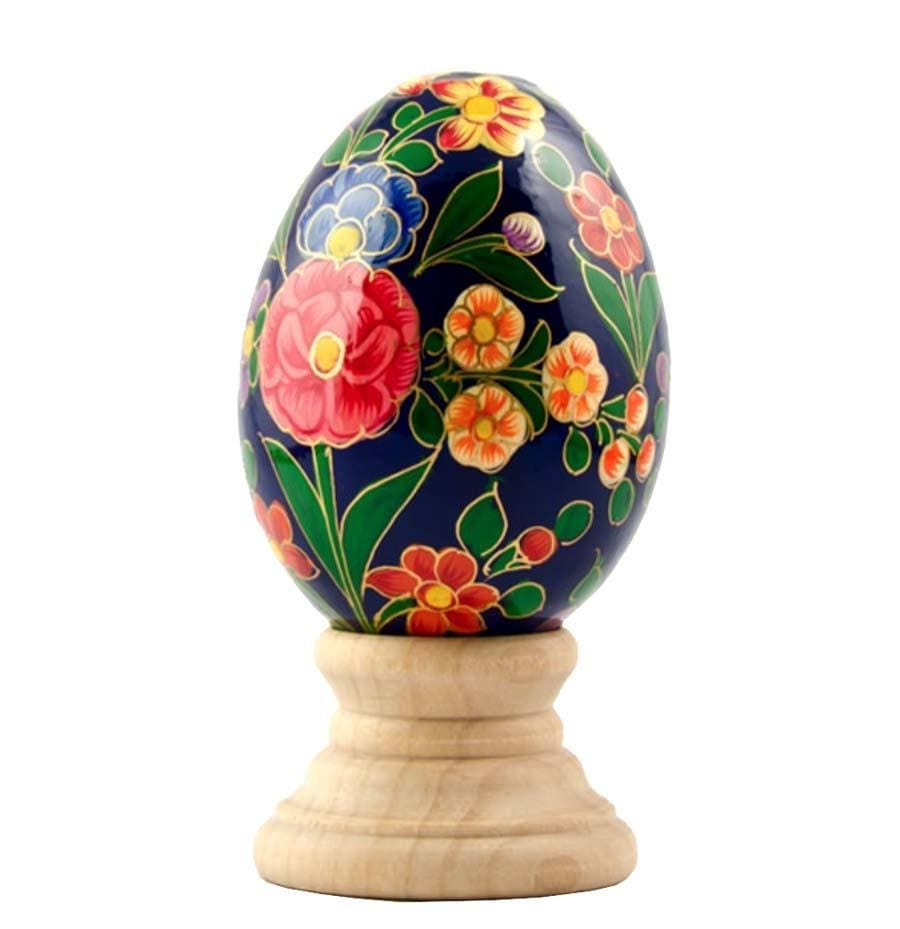 Standing Wooden Egg: Secret Garden