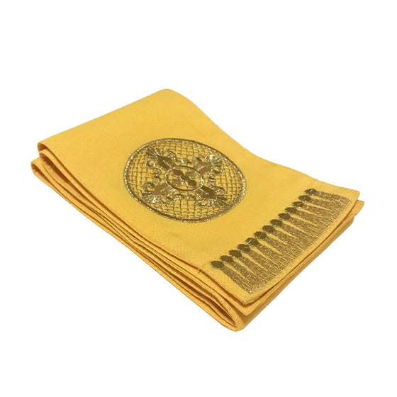 Gospel Marker: Yellow with Gold Embroidery