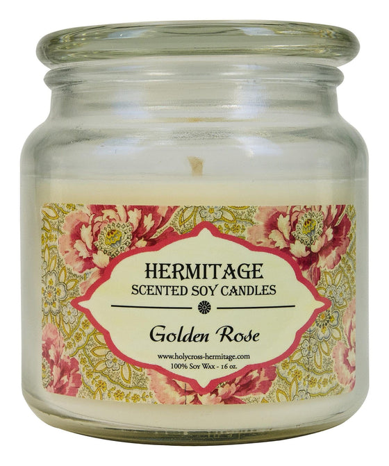 Soy Candle: Golden Rose