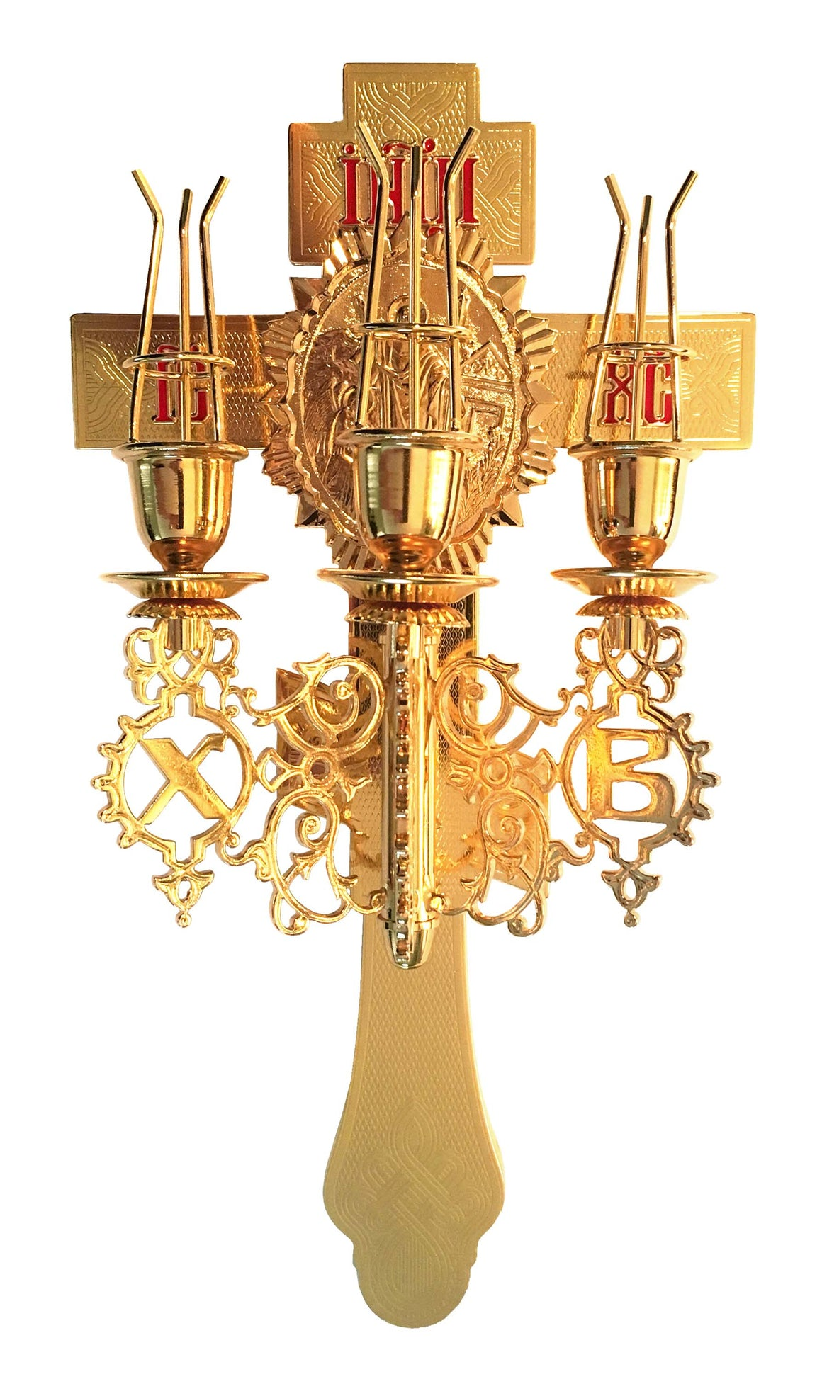 Altar Cross: Three Paschal Candles
