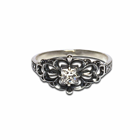 """Lord, Save & Protect Me"" Ring: Clover Petals"