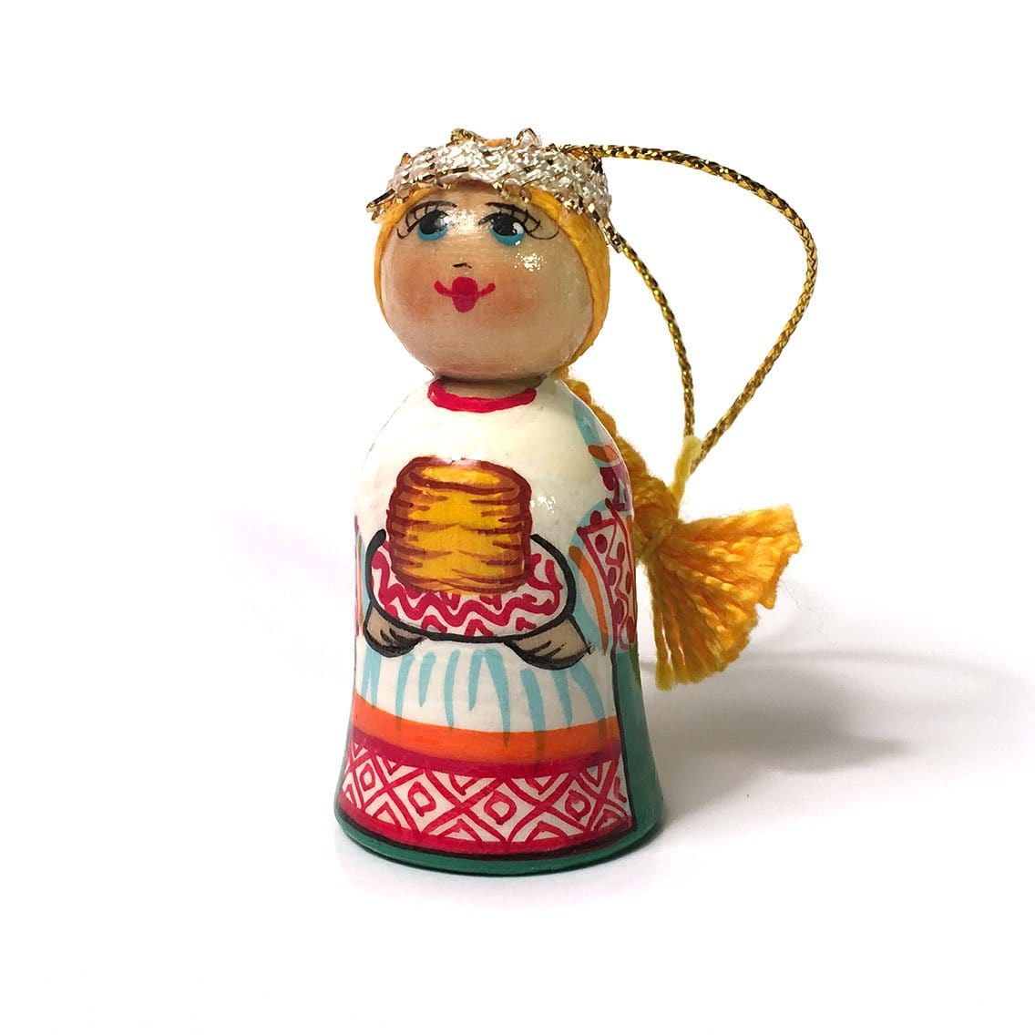 Wooden Ornament: Girl with Blini