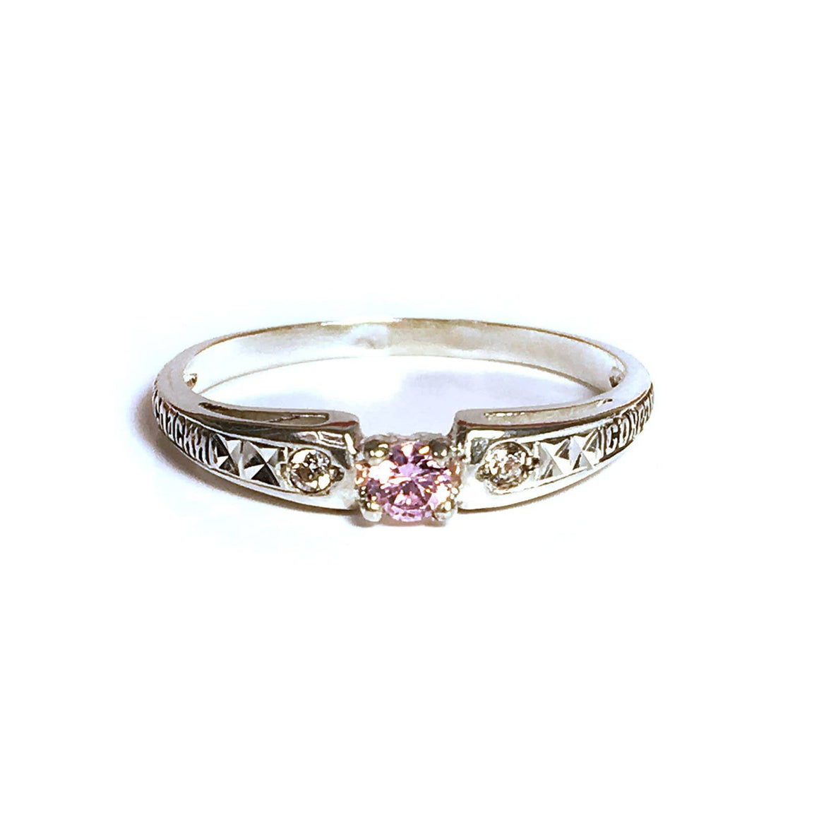 Birthstone Protection Ring: June Light Amethyst