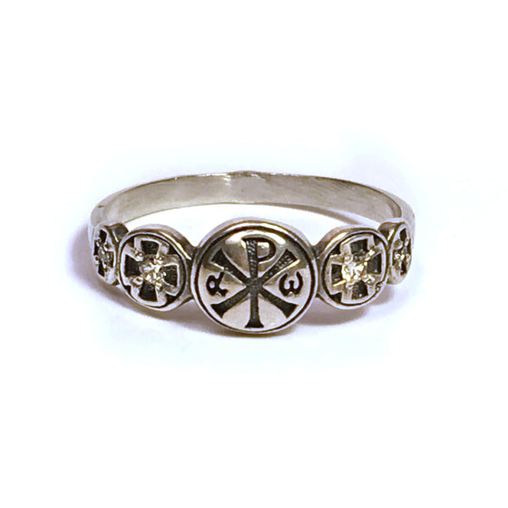 Alpha and Omega Ring: Size 7.5