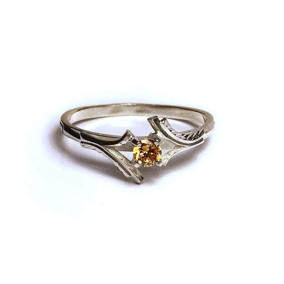 Birthstone Protection Ring: November Citrine (Size 9)