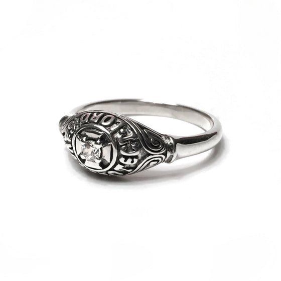English Prayer Ring: Cubic Zirconium