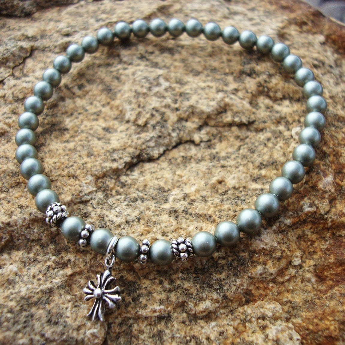 Prayer Bracelet: Panagia's Pearls Sea-Foam Green