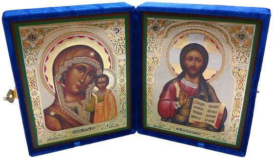 Large Pair of Wedding Icons in Velvet Case