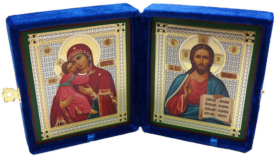 Medium Pair of Wedding Icons in Velvet Case