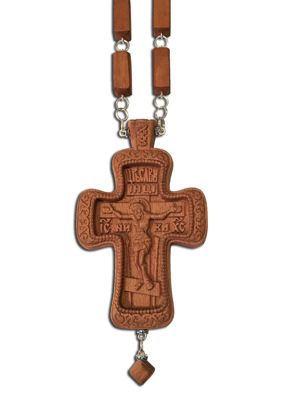 "Carved Wooden Cross ""Ornate"""