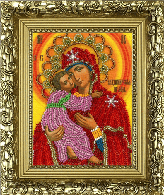 Icon Beading Kit: Vladimir Mother of God