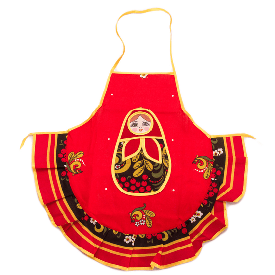 Matryoshka Apron for Kids: Khokhloma
