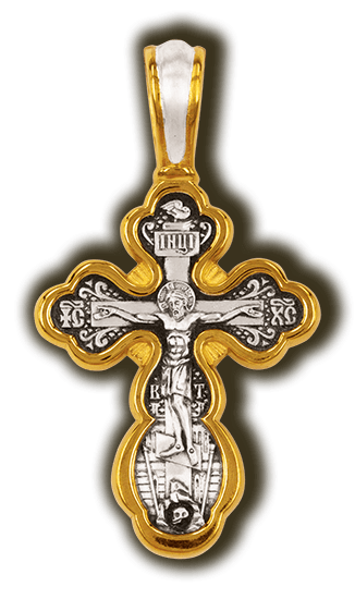 Silver Cross with Gold Plating: Medium